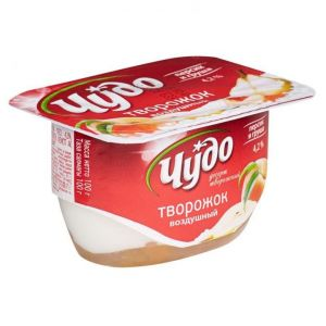 ..Десерт творожный Чудо персик-маракуйя 4.2% 100 г